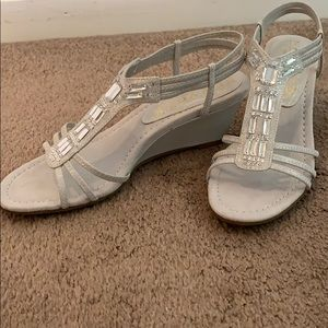 Woman's silver formal sandals